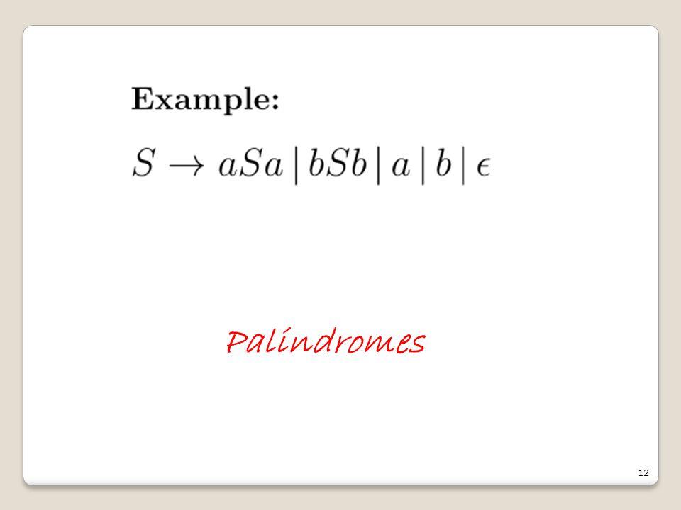 12 Palindromes