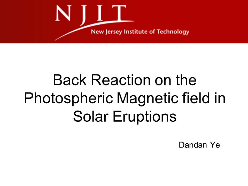 Back Reaction on the Photospheric Magnetic field in Solar Eruptions Dandan Ye