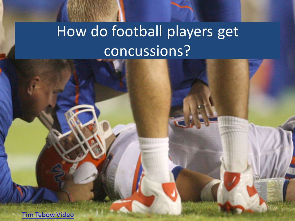 How do football players get concussions? Tim Tebow Video