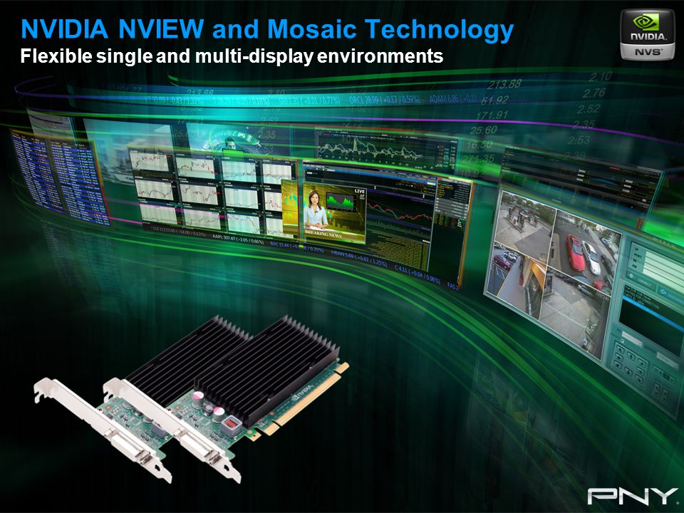 NVIDIA NVIEW and Mosaic Technology Flexible single and multi-display environments