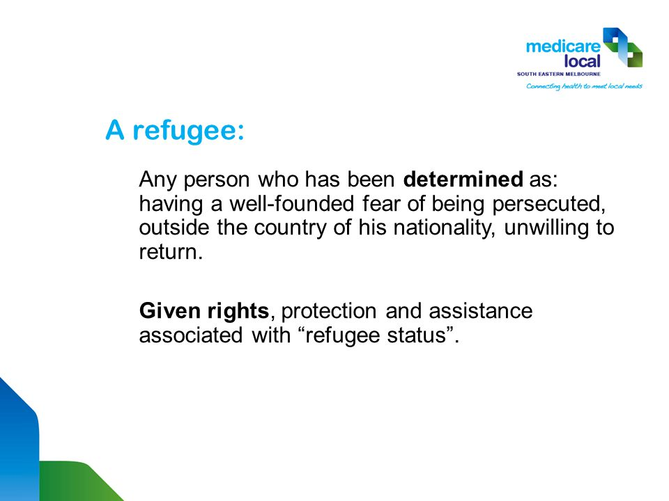 An asylum seeker: An individual whose application for refugee status is still pending a final decision… Not given rights, protection and assistance associated with UNHCR Refugee status