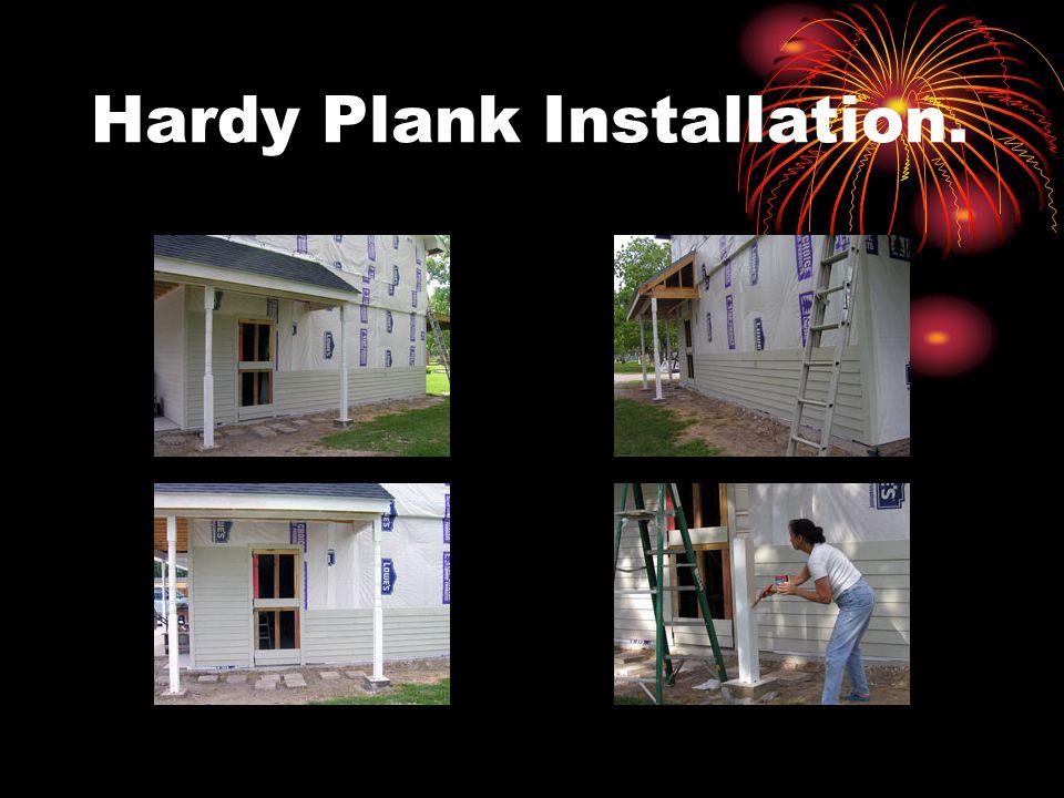 Hardy Plank Installation.