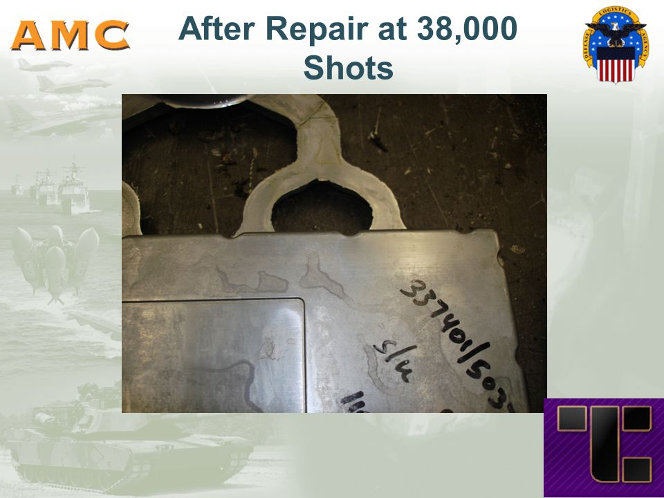 After Repair at 38,000 Shots