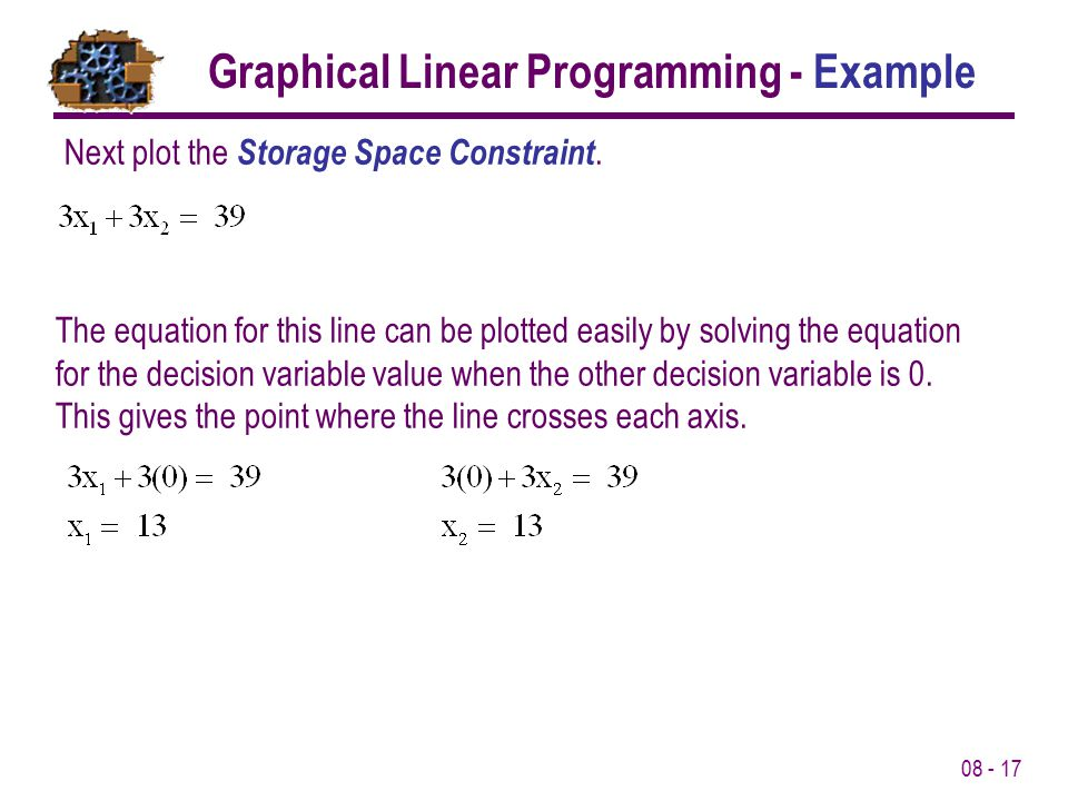 08 - 17 Next plot the Storage Space Constraint.