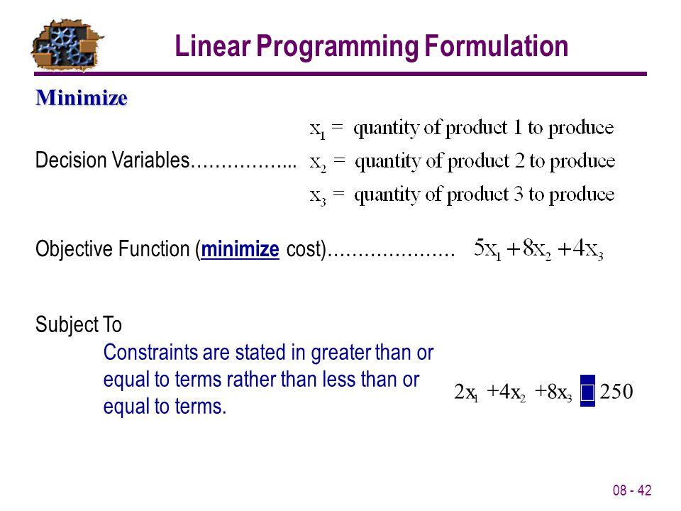 08 - 42 Decision Variables……………...