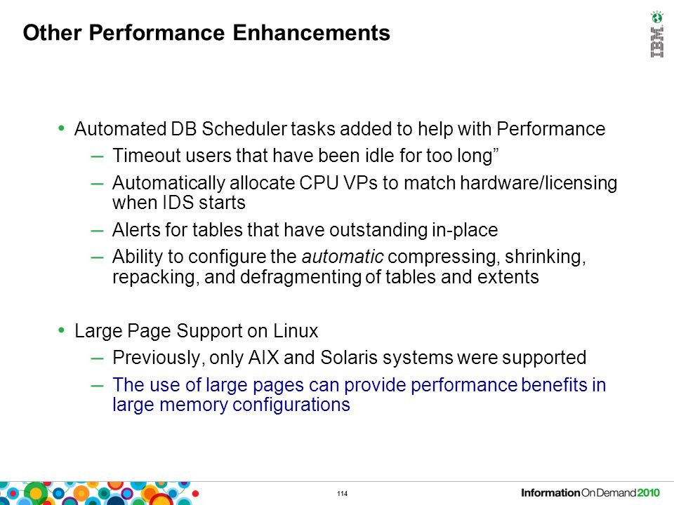 """114 Other Performance Enhancements Automated DB Scheduler tasks added to help with Performance – Timeout users that have been idle for too long"""" – Aut"""