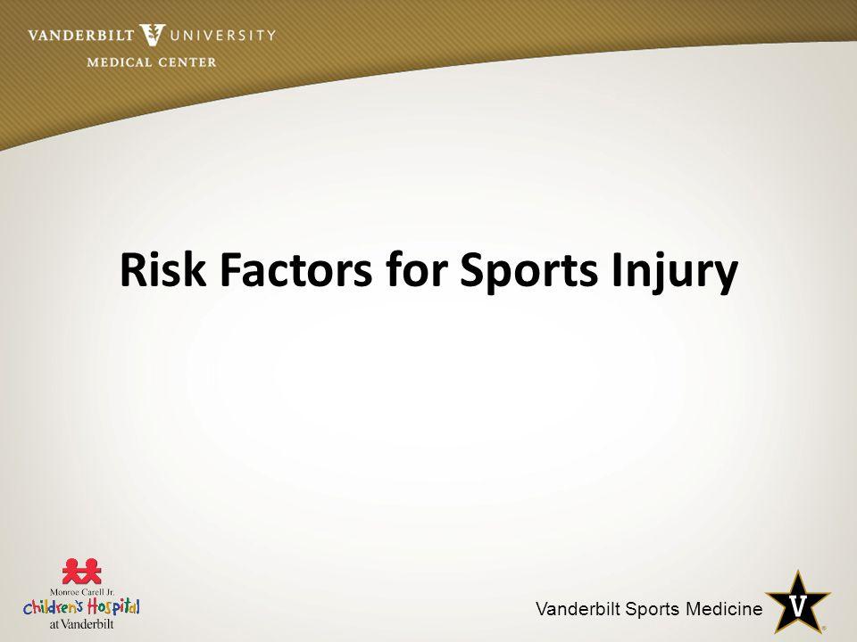 Vanderbilt Sports Medicine Risk Factors for Sports Injury