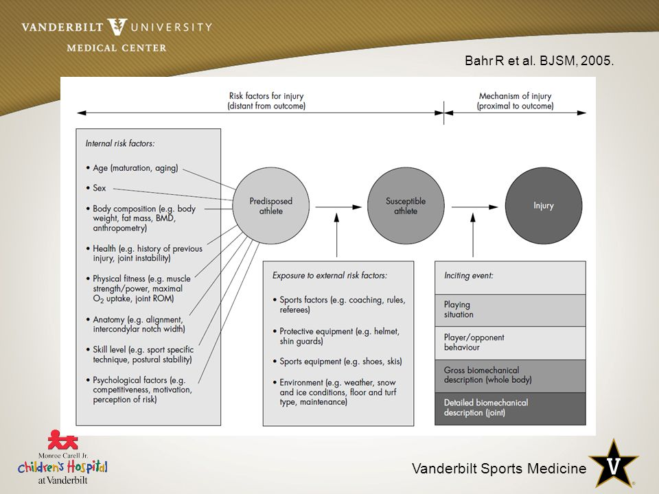 Vanderbilt Sports Medicine Bahr R et al. BJSM, 2005.
