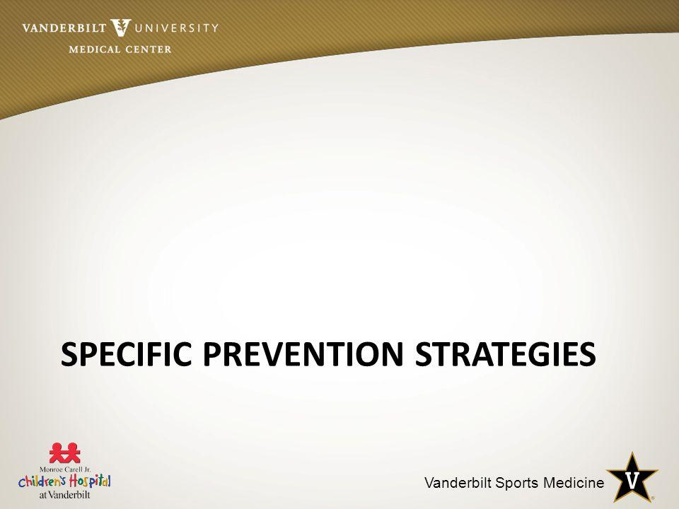 Vanderbilt Sports Medicine SPECIFIC PREVENTION STRATEGIES