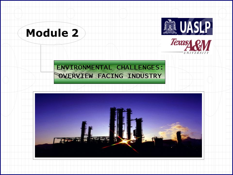 A&MA&M University Texas In Mexico, SEMARNAT (Secretaria de Medio Ambiente y Recursos Naturales) is in charge or the environmental regulations, but it does not cover all aspects of a refinery because some of them are very specific, for example, Proyecto NOM-088-ECOL-1994 Establish the maximum permissible levels of pollutants in the water discharges that become from storage and distribution of petroleum and its derivates.