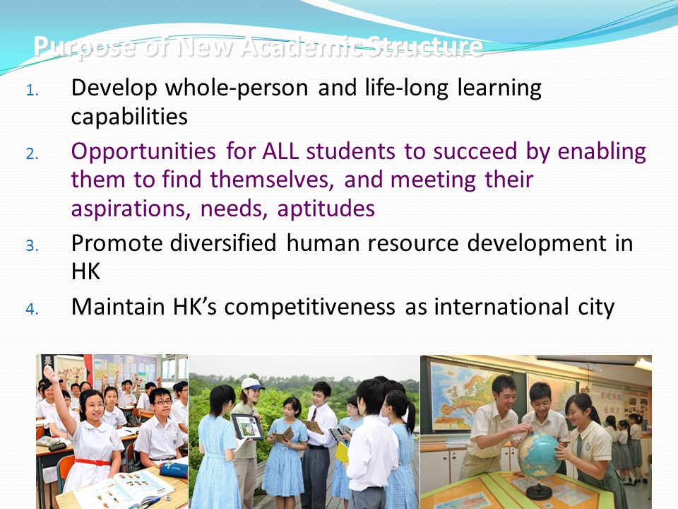 3 1.Develop whole-person and life-long learning capabilities 2.