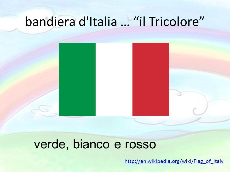 """bandiera d'Italia … """"il Tricolore"""" verde, bianco e rosso http://en.wikipedia.org/wiki/Flag_of_Italy"""