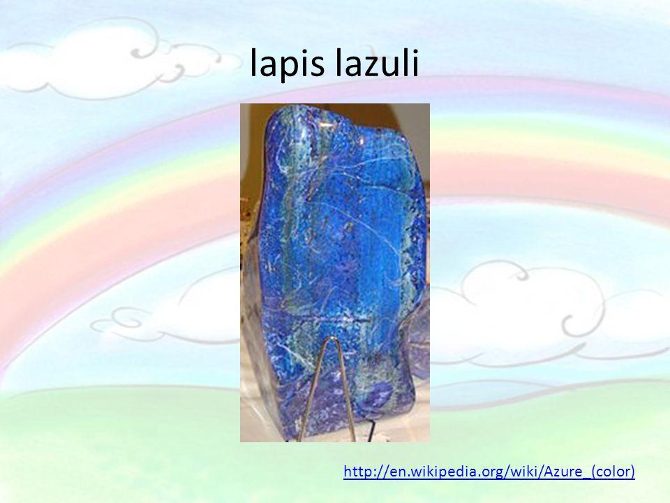 lapis lazuli http://en.wikipedia.org/wiki/Azure_(color)