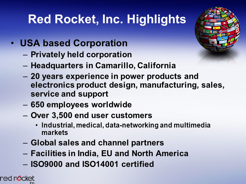 Red Rocket, Inc. Structure