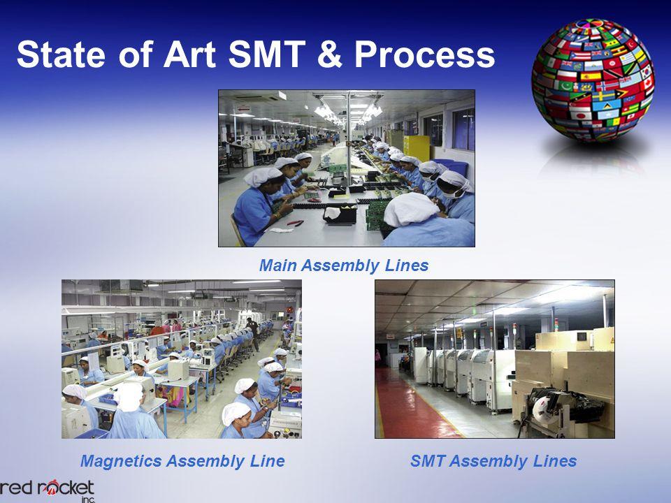 State of Art SMT & Process SMT Assembly LinesMagnetics Assembly Line Main Assembly Lines