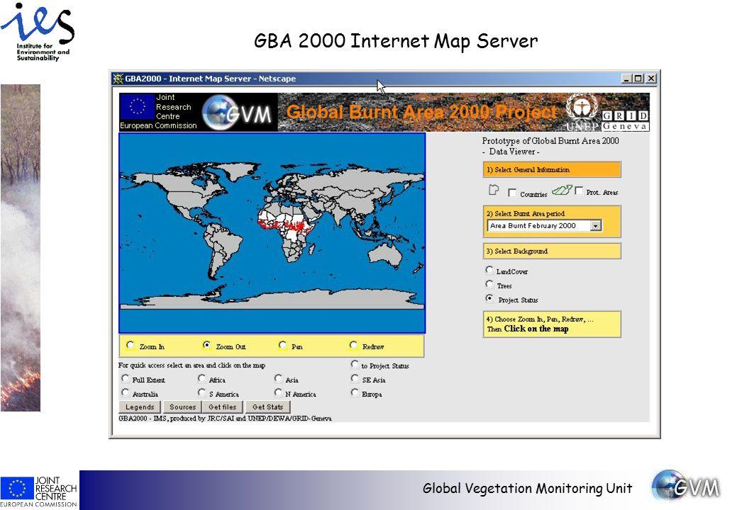 Global Vegetation Monitoring Unit GBA 2000 Internet Map Server