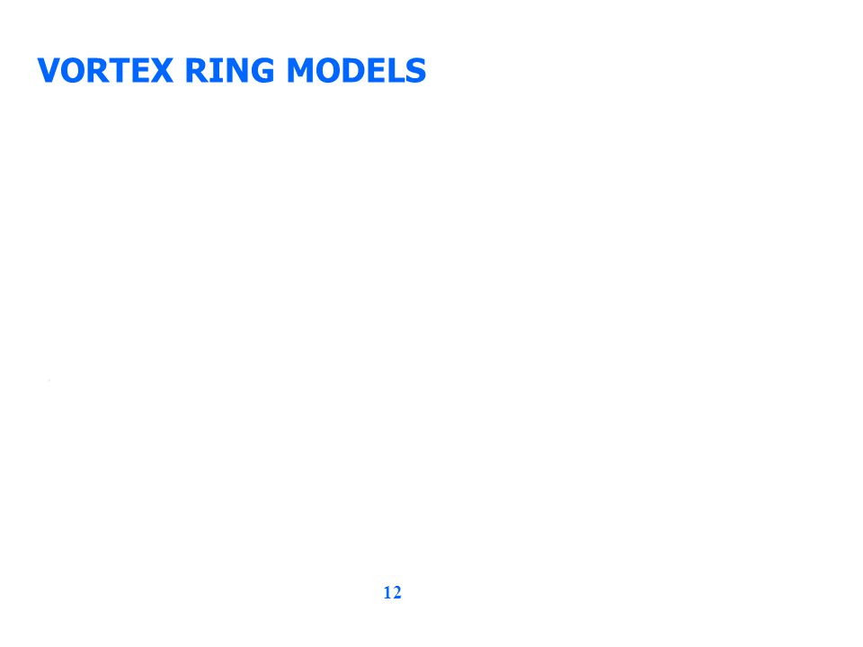 12 VORTEX RING MODELS,