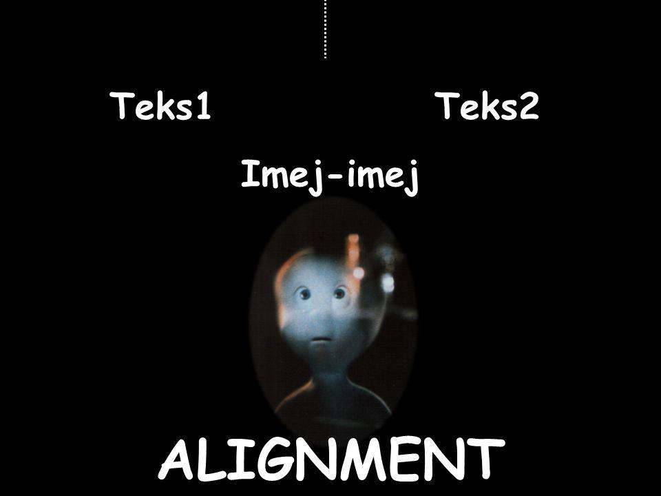 ALIGNMENT Teks1 Imej-imej Teks2