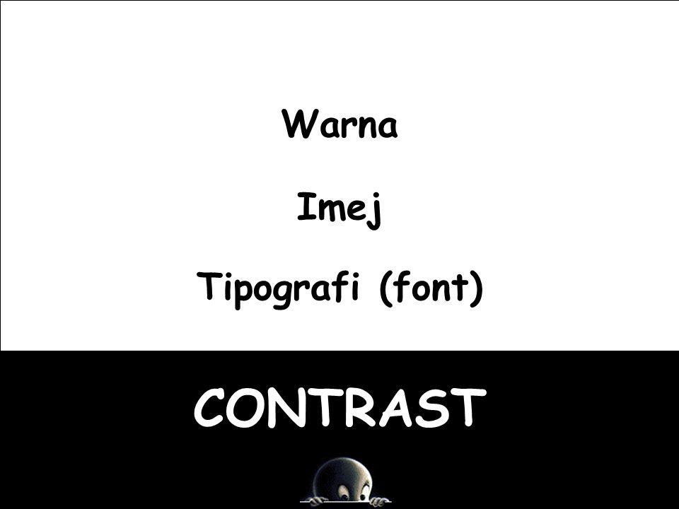 CONTRAST Warna Imej Tipografi (font)