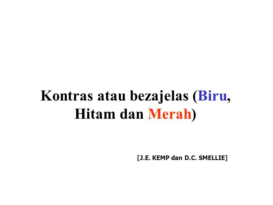 Kontras atau bezajelas (Biru, Hitam dan Merah) [J.E. KEMP dan D.C. SMELLIE]