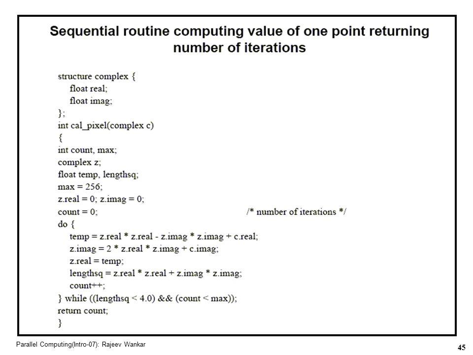 45 Parallel Computing(Intro-07): Rajeev Wankar