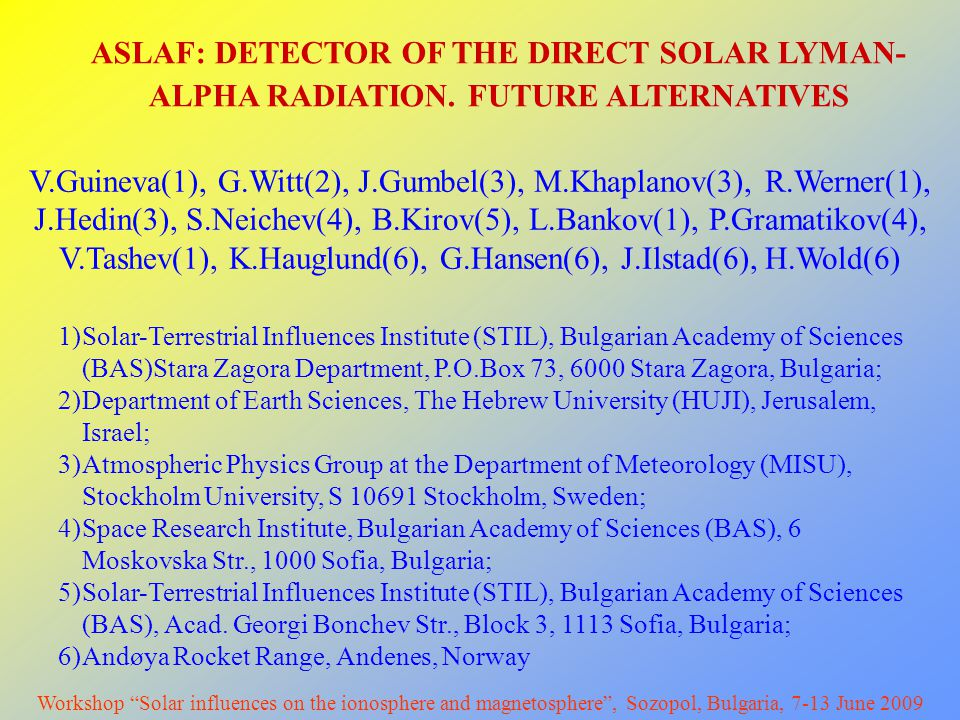ASLAF: DETECTOR OF THE DIRECT SOLAR LYMAN- ALPHA RADIATION.