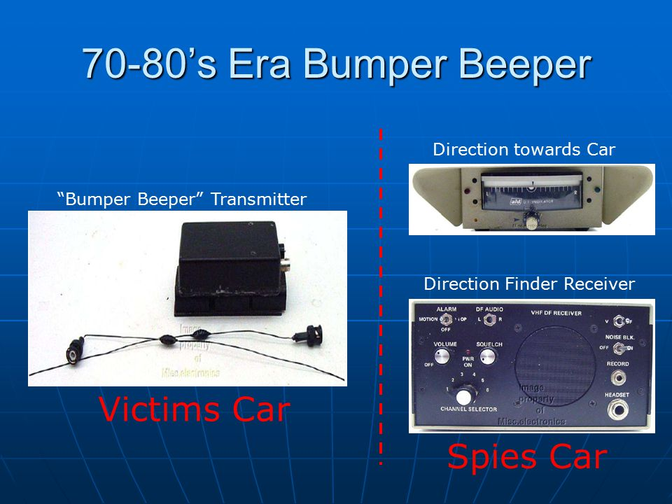 70-80's Era Bumper Beeper Bumper Beeper Transmitter Direction towards Car Direction Finder Receiver Victims Car Spies Car