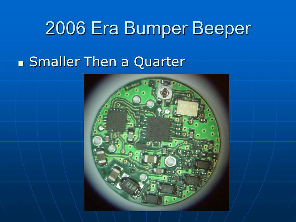 2006 Era Bumper Beeper Smaller Then a Quarter Smaller Then a Quarter