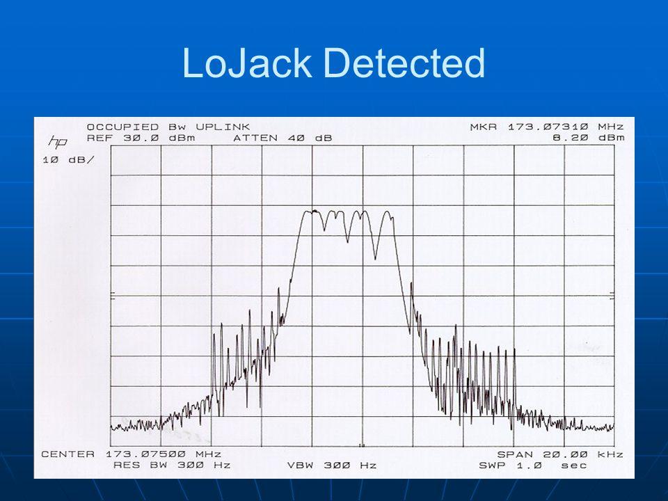 LoJack Detected