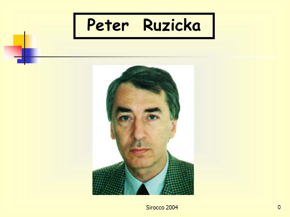 Sirocco 20040 Peter Ruzicka