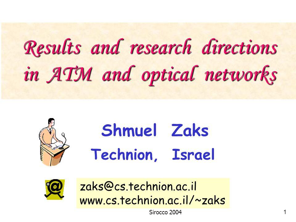 Sirocco 200421 T(l-1,h)T(l,h-1) T(l,h) Case 1 : shortest paths (stretch factor = 1)