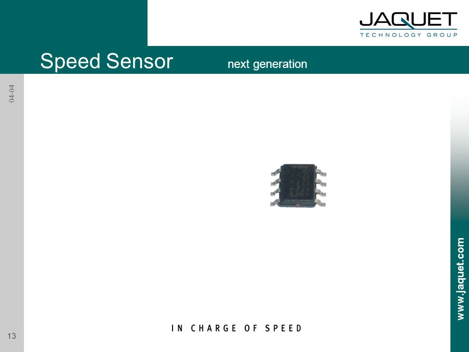 Speed Sensor next generation