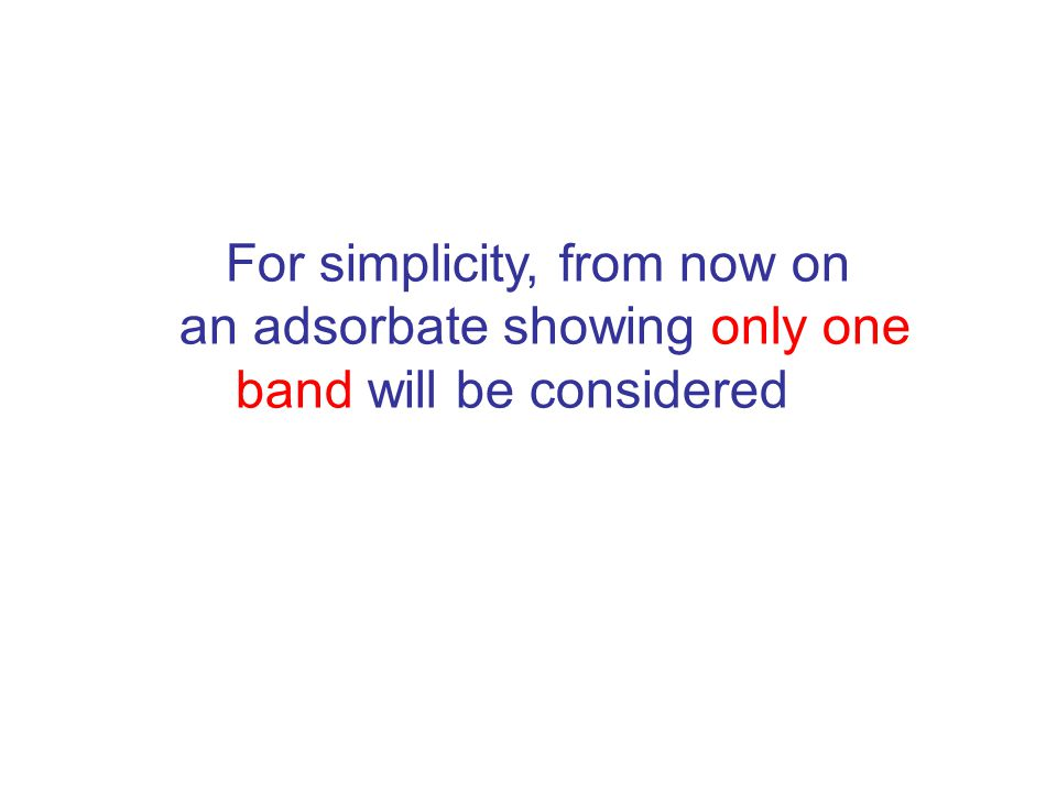 For simplicity, from now on an adsorbate showing only one band will be considered