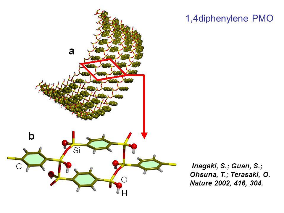 Inagaki, S.; Guan, S.; Ohsuna, T.; Terasaki, O. Nature 2002, 416, 304. 1,4diphenylene PMO