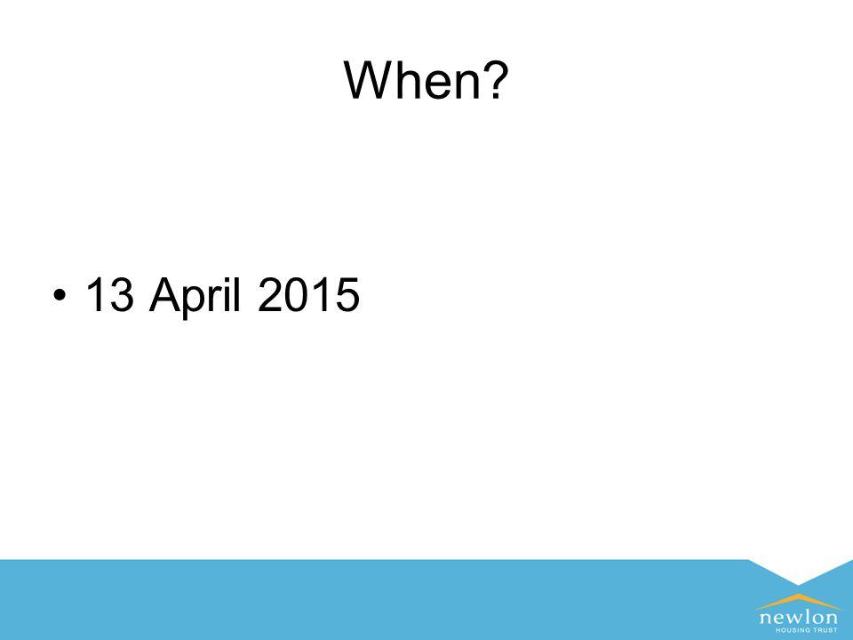 When 13 April 2015