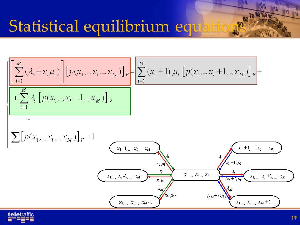 Statistical equilibrium equations 19