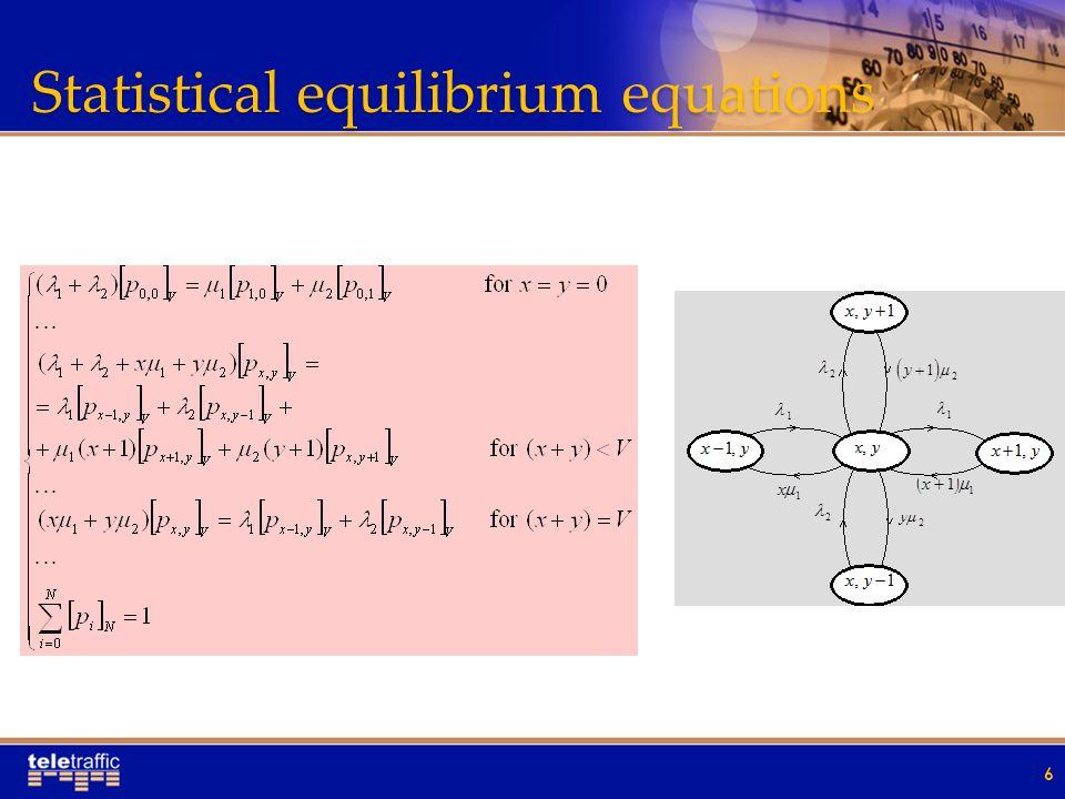 Statistical equilibrium equations 6