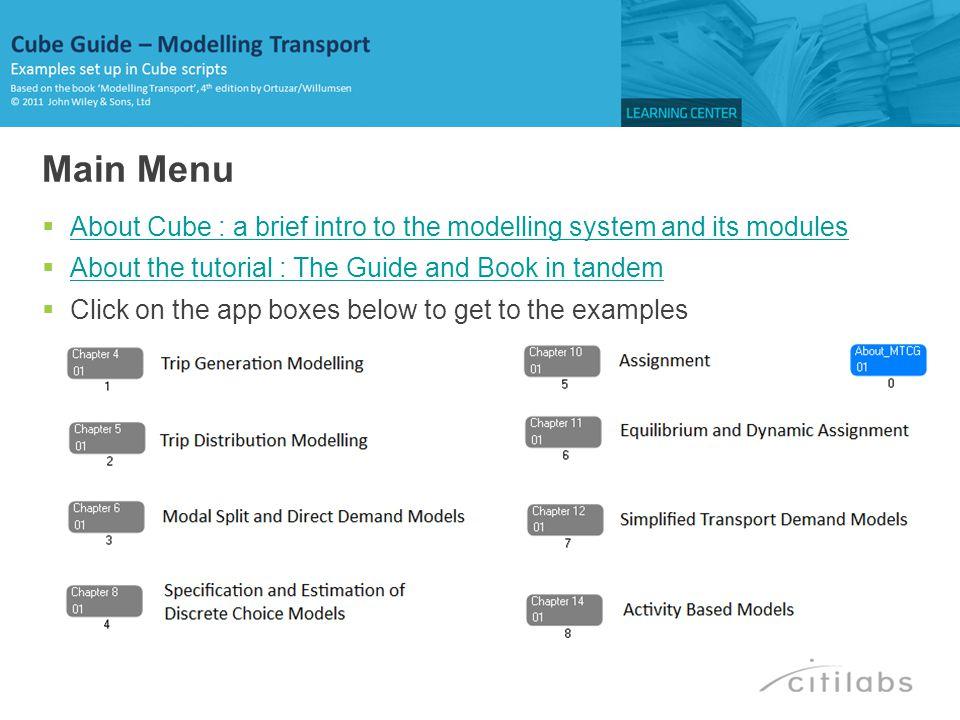 RUN PGM=MATRIX PRNFILE= C:\Modelling Transport_CG\APPLICATIONS\CHAPTER12\E2MAT01A.PRN , MSG= Example 12.1 FILEO RECO[1] = C:\Modelling Transport_CG\Output\Chapter12\Results_12_1.DBF , FIELDS=ES S T DeltaT FILEI RECI = C:\Modelling Transport_CG\Input\Chapter12\Inputs_12_1.dbf T0 = RI.T0 ;initial level of demand ES = RI.ES ;the fare/demand elasticity of public transport S0 = RI.AVEFARE ;average fare [Pence/trip] ;Using T-T0=Es*T0*(S-S0)/S0 S =S0*(1+0.025) ;fare increases by 2.5% T=T0+ES*T0*(S-S0)/S0 DeltaT=T-T0 WRITE RECO=1 ENDRUN BACK … Ch12-SDM: Ex12.1 – Incremental Elasticity Analysis