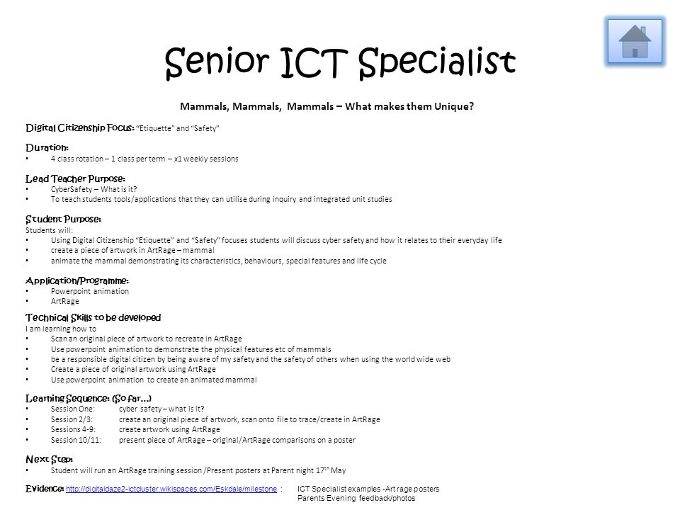 Senior ICT Specialist Mammals, Mammals, Mammals – What makes them Unique.