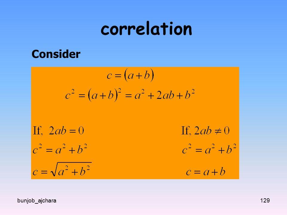 bunjob_ajchara129 correlation Consider
