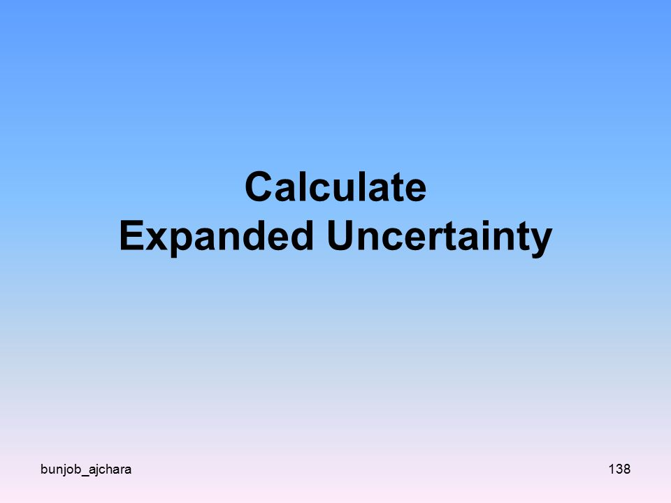 Calculate Expanded Uncertainty bunjob_ajchara138