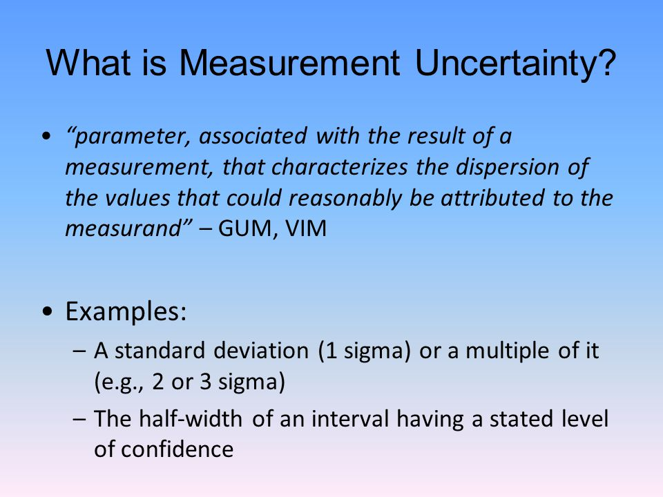 What is Measurement Uncertainty.