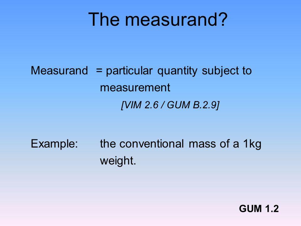 The measurand.