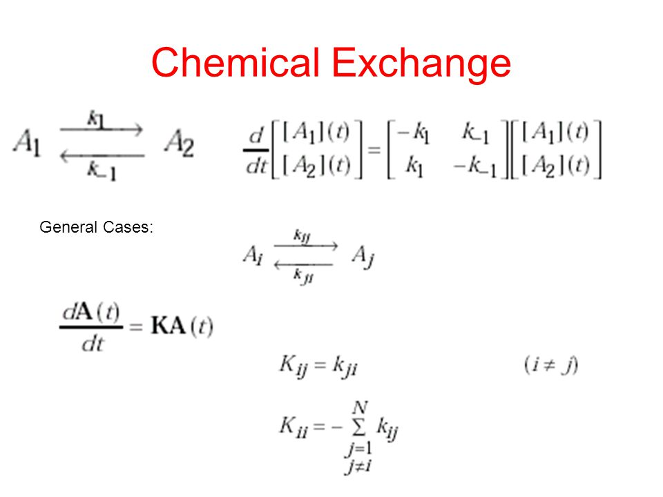 Chemical Exchange General Cases:
