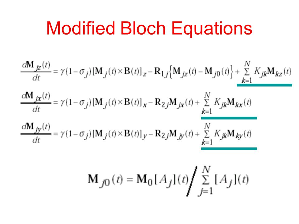 Modified Bloch Equations