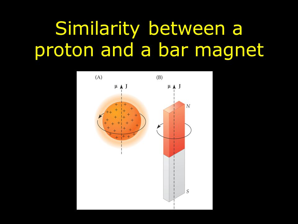 Similarity between a proton and a bar magnet