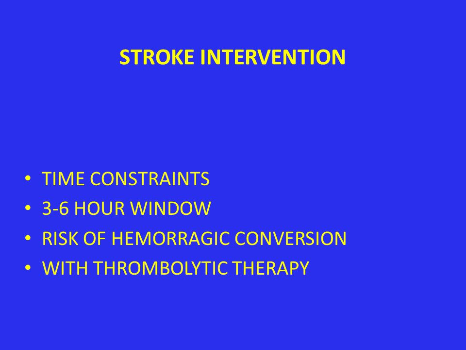 STROKE INTERVENTION THROMBOLYTIC THERAPY TO SALVAGE ISCHEMIC BRAIN AT THE BORDER OF THE INFARCT ZONE WHO BENEFITS AND HOW SELECT?