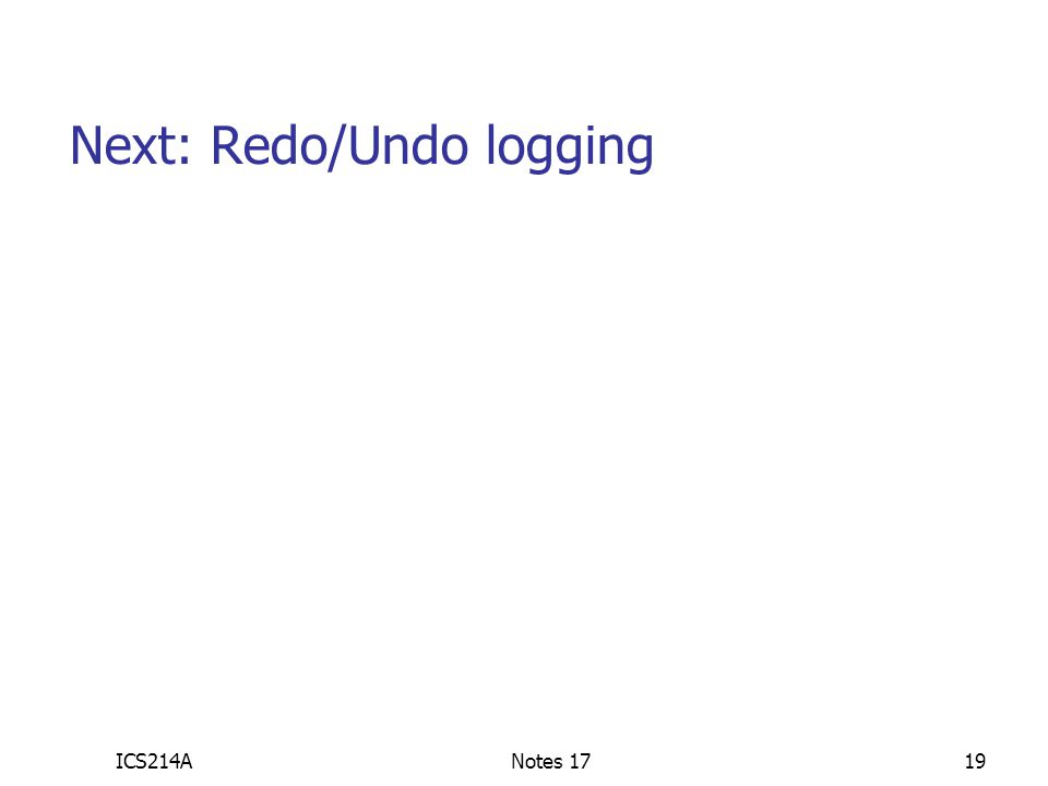ICS214ANotes 1719 Next: Redo/Undo logging