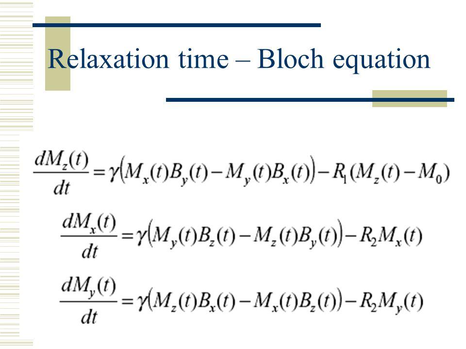 Spin-lattice Relaxation time (Longitudinal) T 1 Relaxation mechanisms: 1.