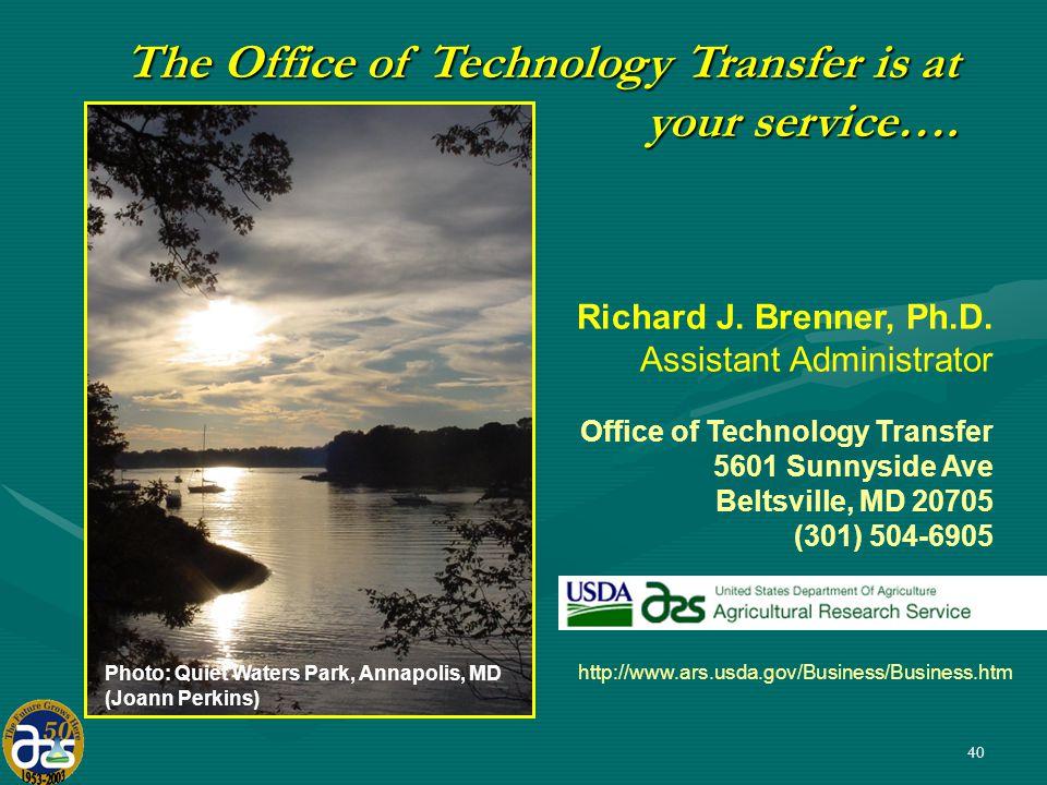 40 Richard J.Brenner, Ph.D.